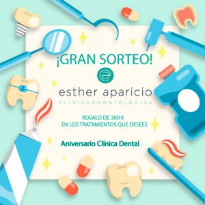 sorteo 38 aniversario clinica dental esther aparicio